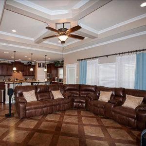 Custom Tile Living Room